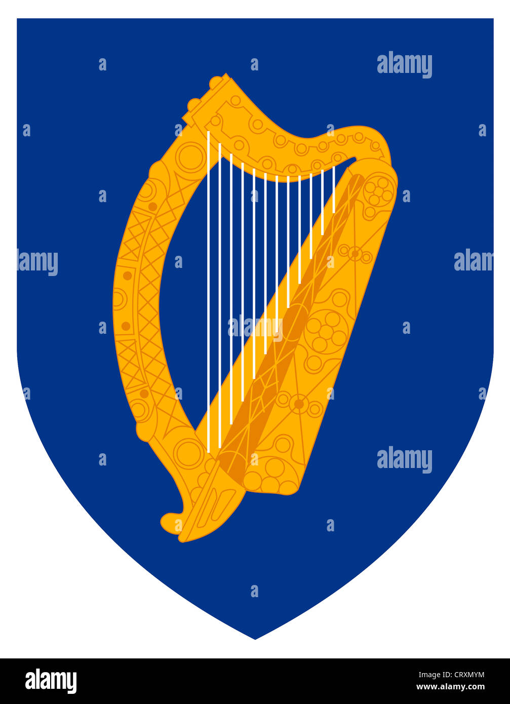 Coat of arms of the Republic of Ireland. - Stock Image