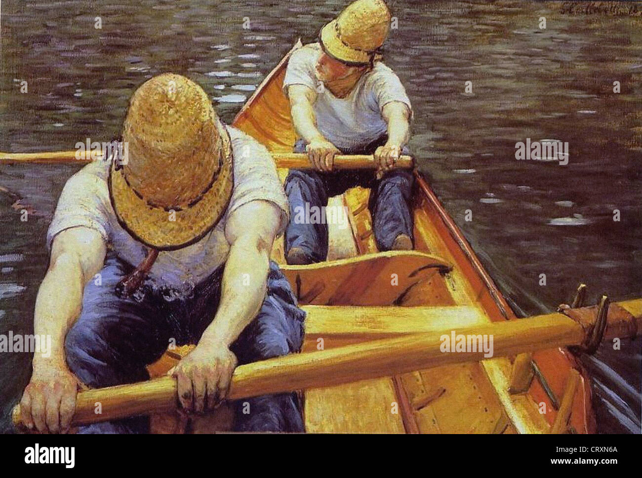 Gustave Caillebotte Canotiers 1877 Private collection Stock Photo