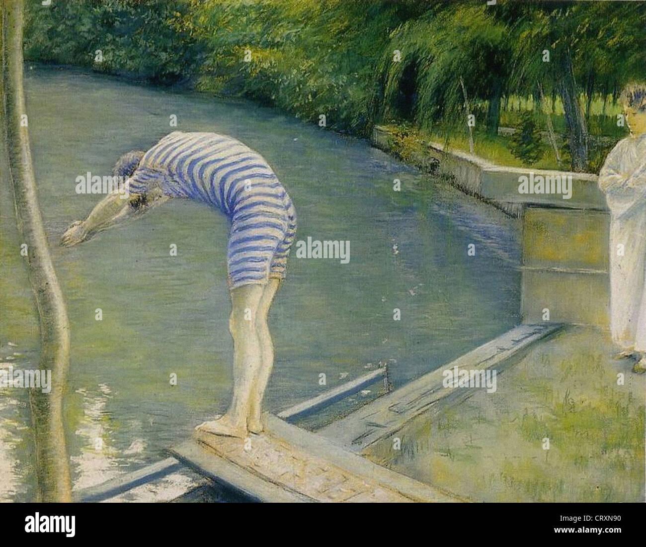 Gustave Caillebotte Le nageur 1877 Paris - Musée d'Orsay Stock Photo