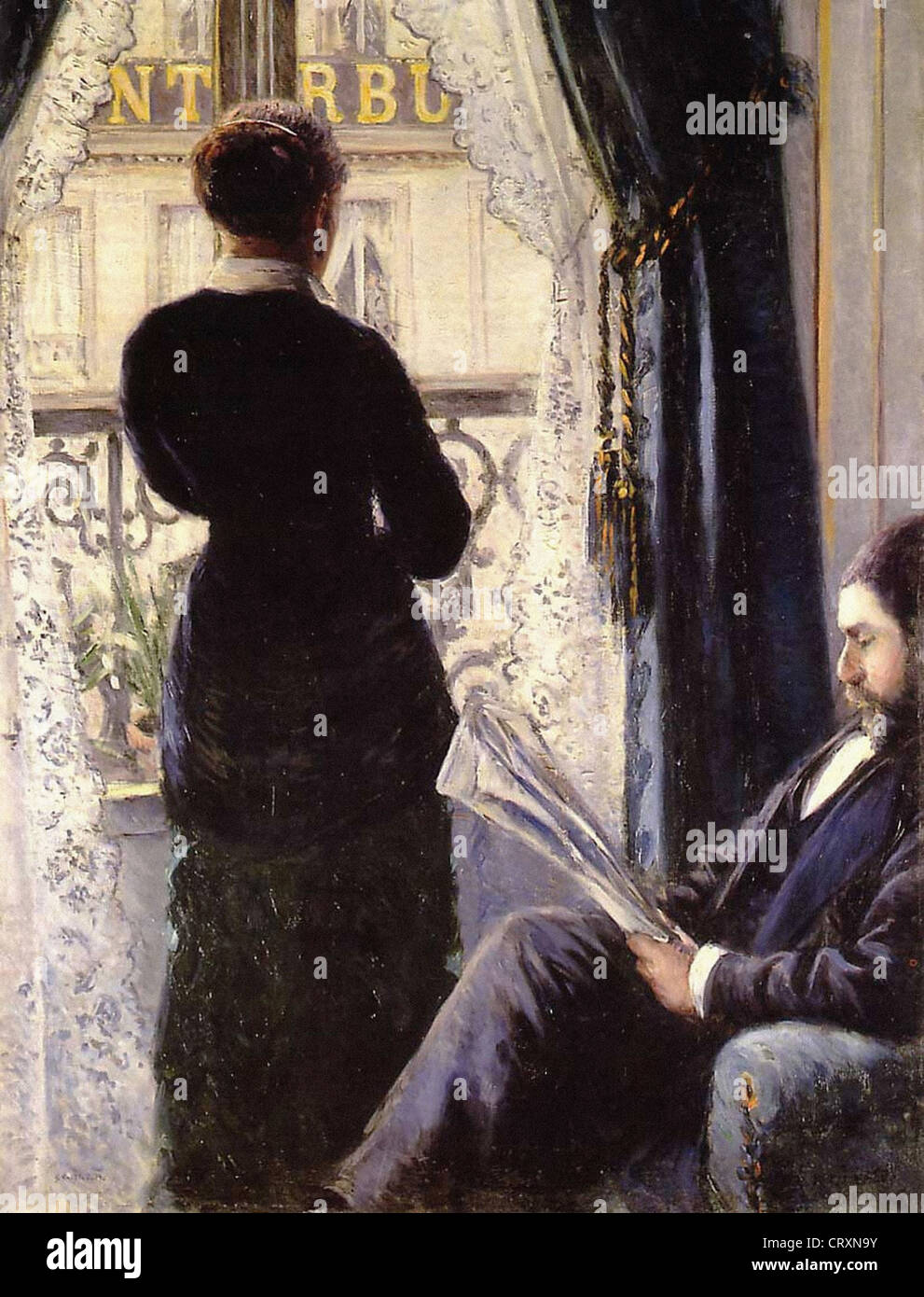 Gustave Caillebotte Interieur 1880 Private collection - Stock Image