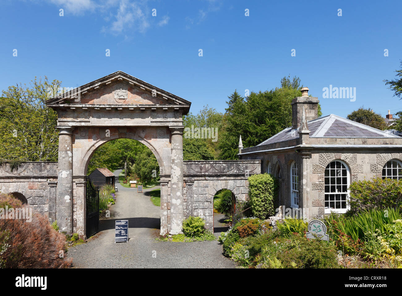 United Kingdom, Northern Ireland, County Derry, View of Bishops Gate - Stock Image