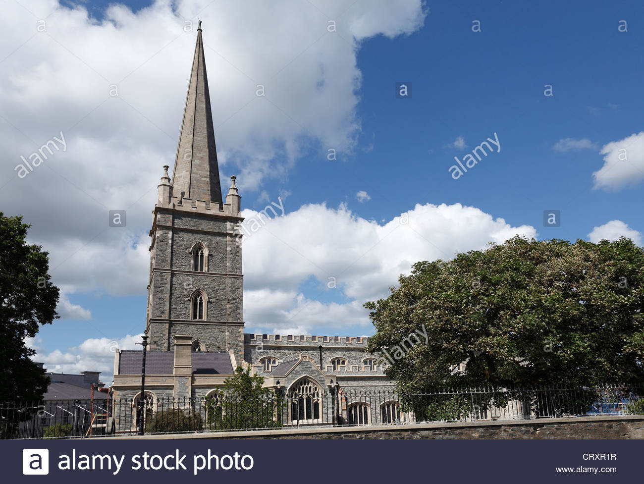 United Kingdom, Northern Ireland, County Derry, View of cathedral - Stock Image
