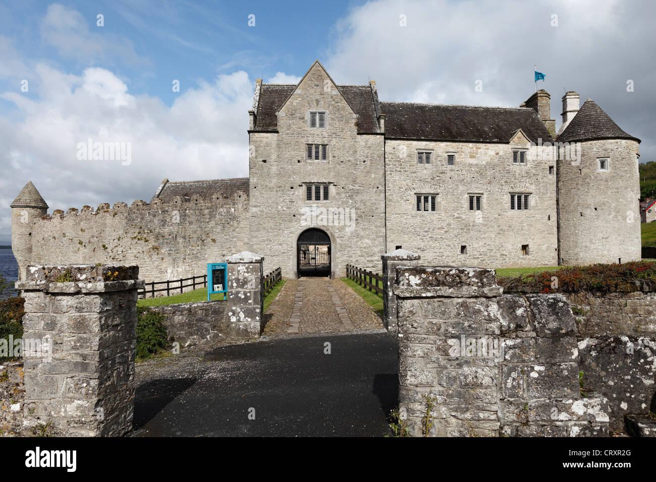 Ireland, Connacht, County Leitrim, View of Parke's Castle - Stock Image