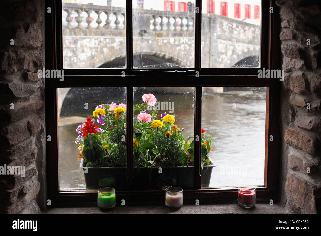 Ireland, Connacht, County Roscommon, View of cafe - Stock Image