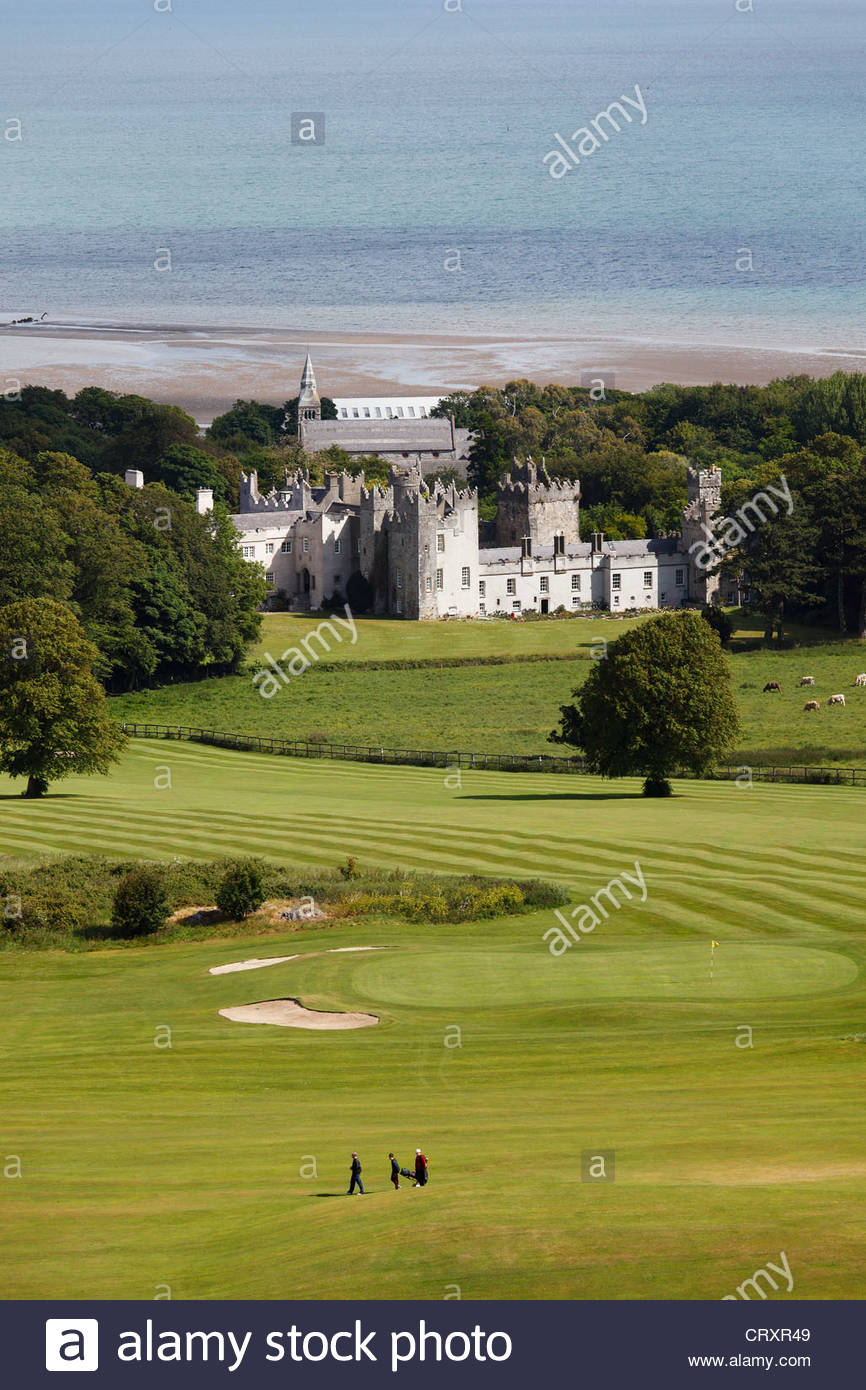 Ireland, Leinster, County Fingal, View of Howth Castle - Stock Image