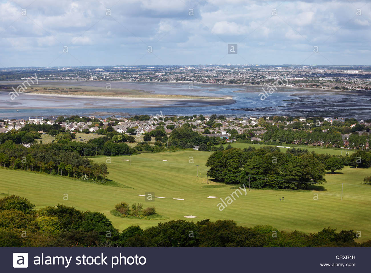 Ireland, Leinster, County Fingal, View of Howth Peninsula with Sutton - Stock Image