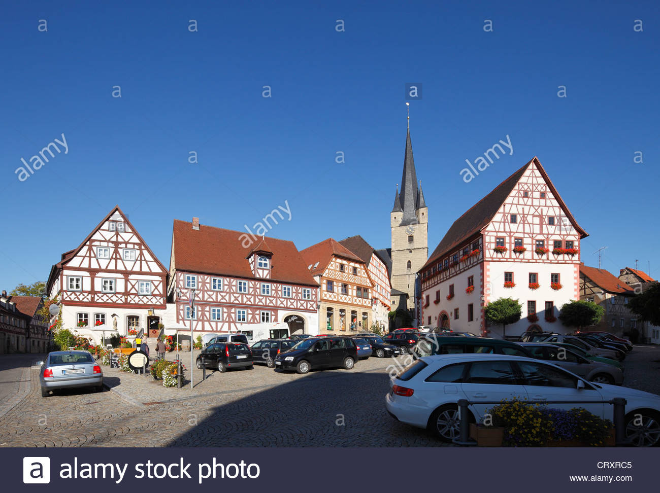 Germany, Bavaria, Zeil am Main, View of timber framed building - Stock Image