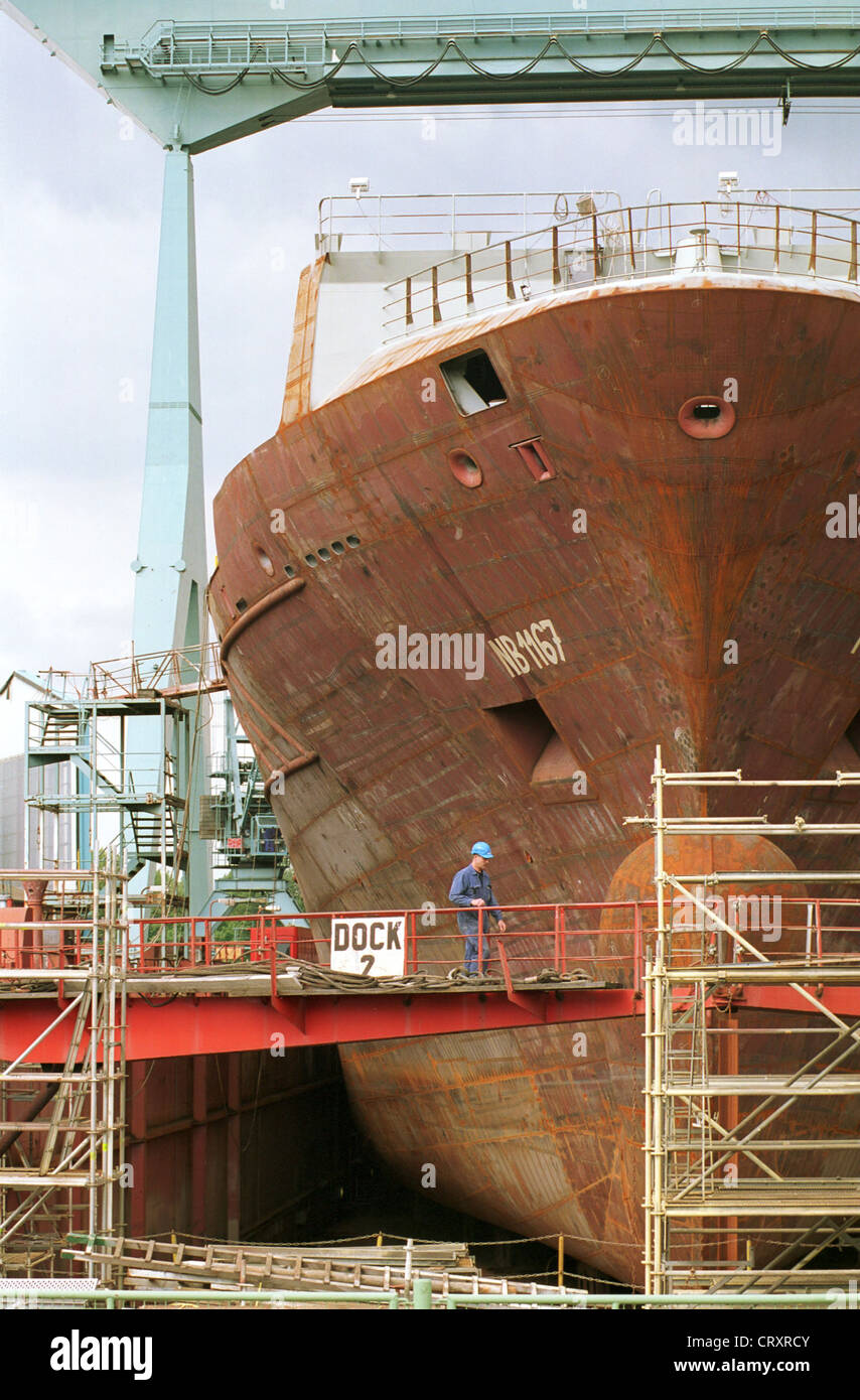 Shipbuilding in the dock of the Sietas - Stock Image
