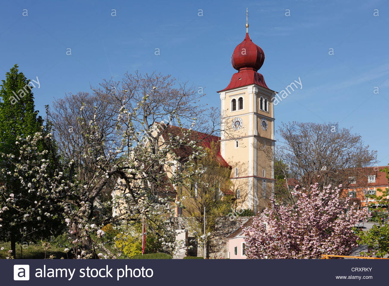 Austria, Styria, Church at Puch bei Weiz - Stock Image