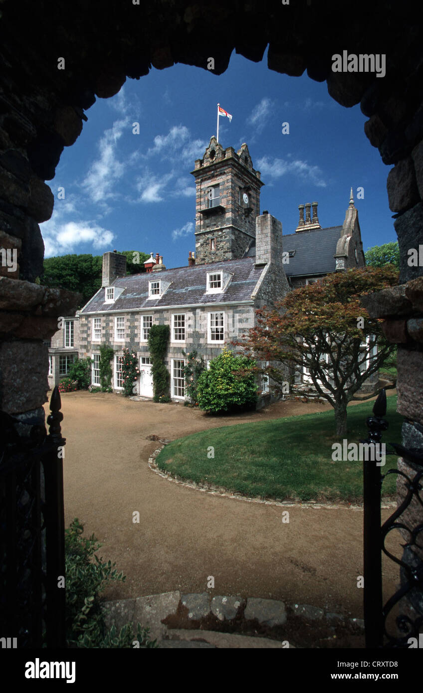 Channel Islands, feudal Sark, LA mansion SEIGNEURIE - Stock Image