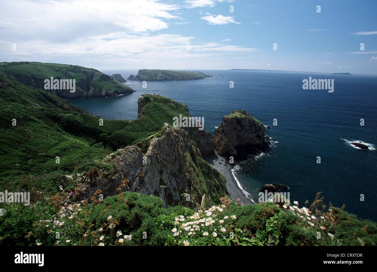 Channel Islands, feudal Sark, Port du Moulin - Stock Image