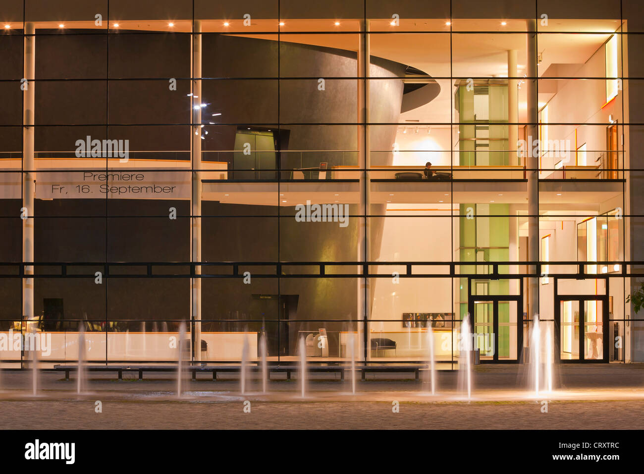 Germany, Thuringia, Erfurt, View of modern theatre - Stock Image