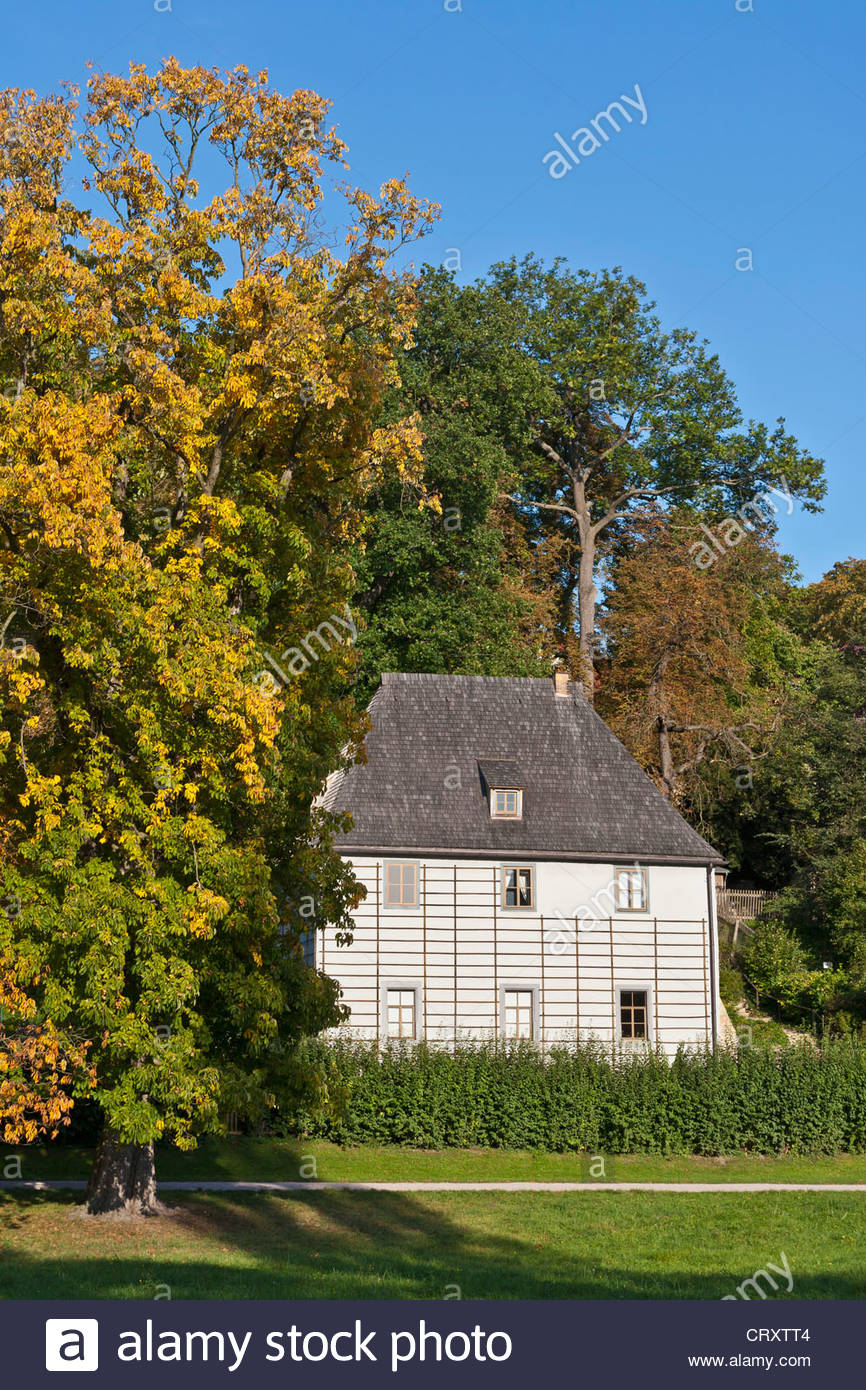 Germany, Thuringia, Weimar, View of garden house - Stock Image