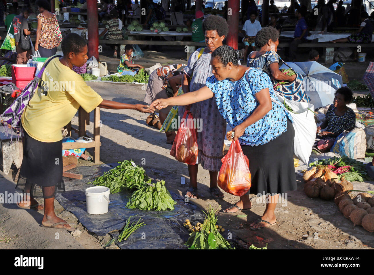 market in Madang, Papua New Guinea - Stock Image
