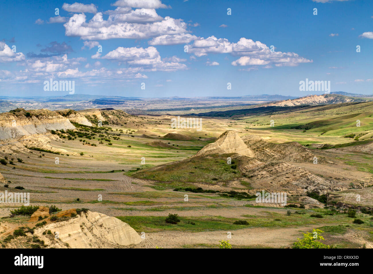 Highland steppes in eastern Caucasian mountains (The Republic of Georgia, border with Azerbaijan), HDR technique. - Stock Image
