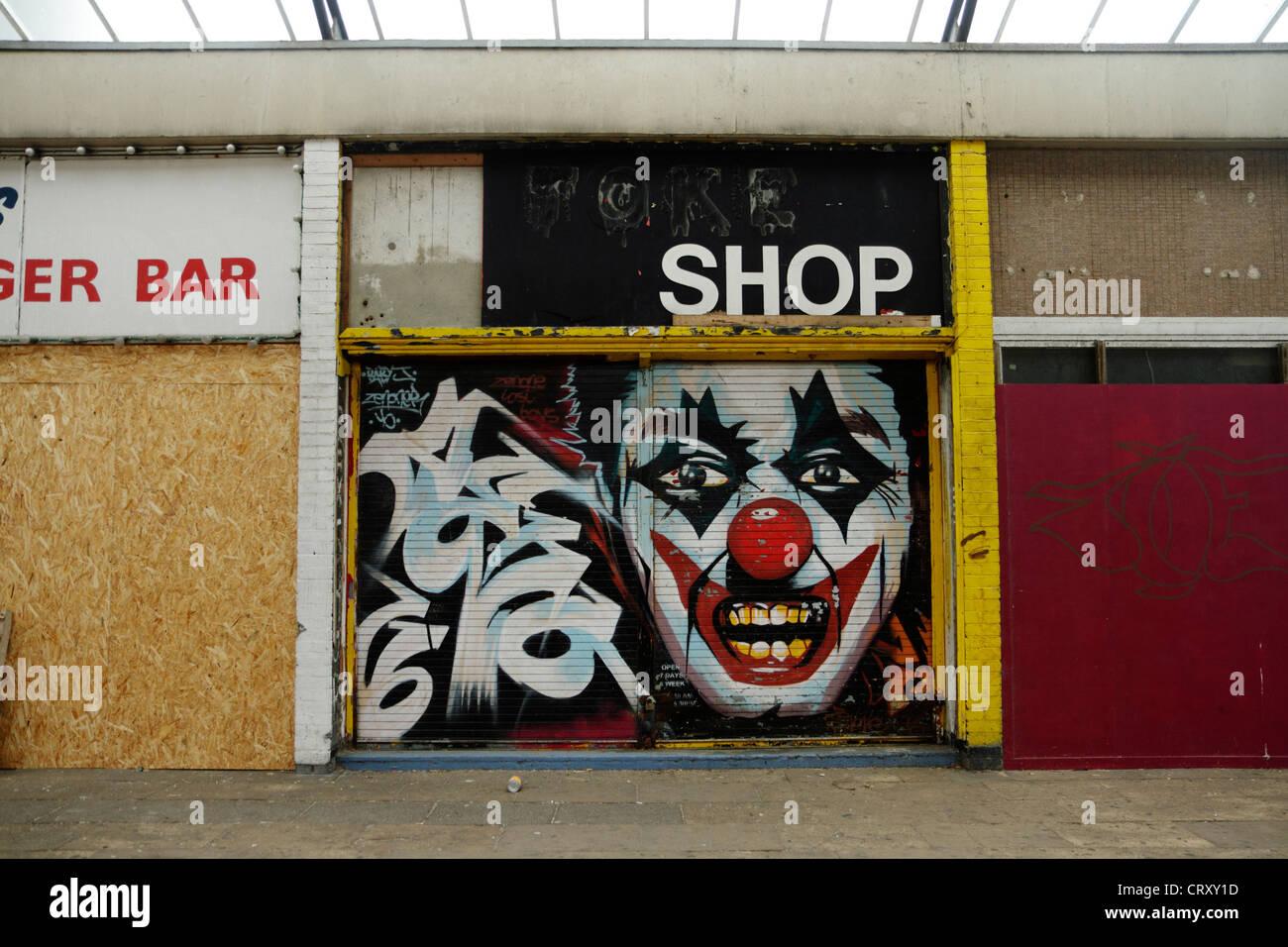 Closed down joke shop, Margate Kent. UK - Stock Image