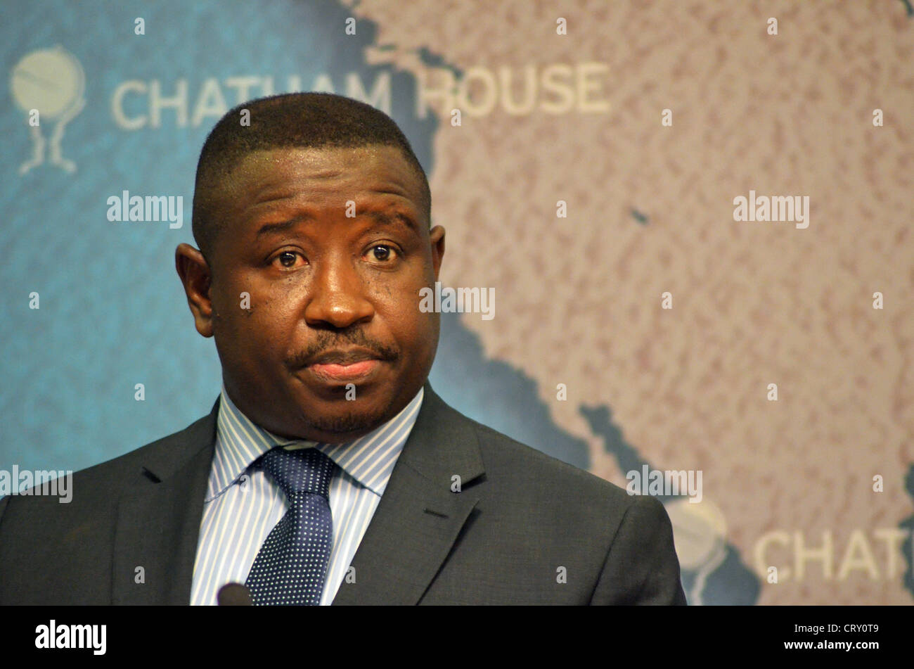 Julius Maada Bio, flagbearer of the SLPP party for Sierra Leone's 2012 elections - Stock Image