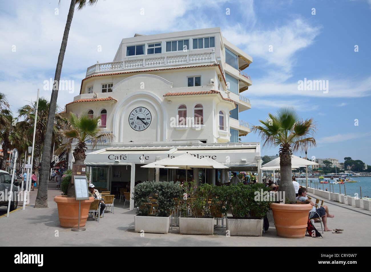le cafe de la plage boulevard douard baudoin juan les pins c te stock photo 49151235 alamy. Black Bedroom Furniture Sets. Home Design Ideas
