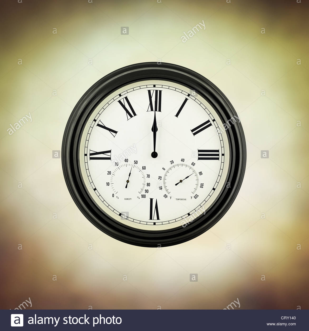 twelve clock - Stock Image
