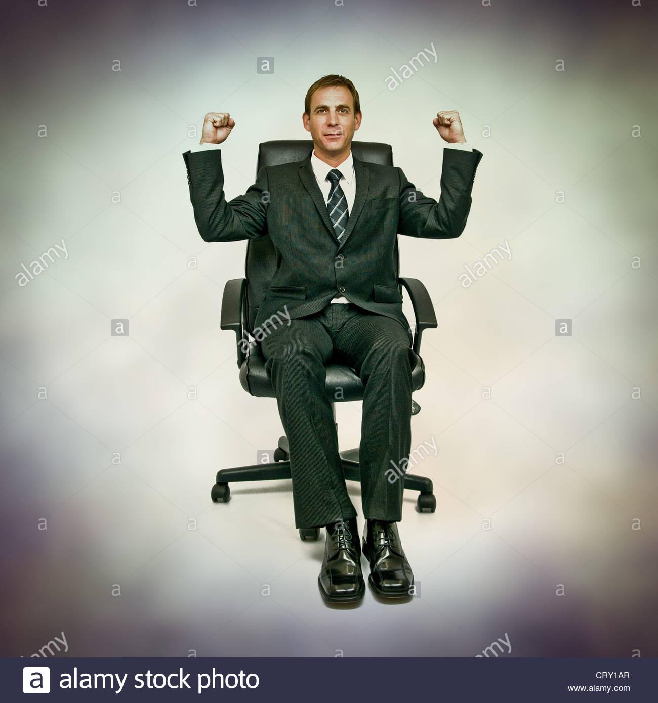 business triumph - Stock Image