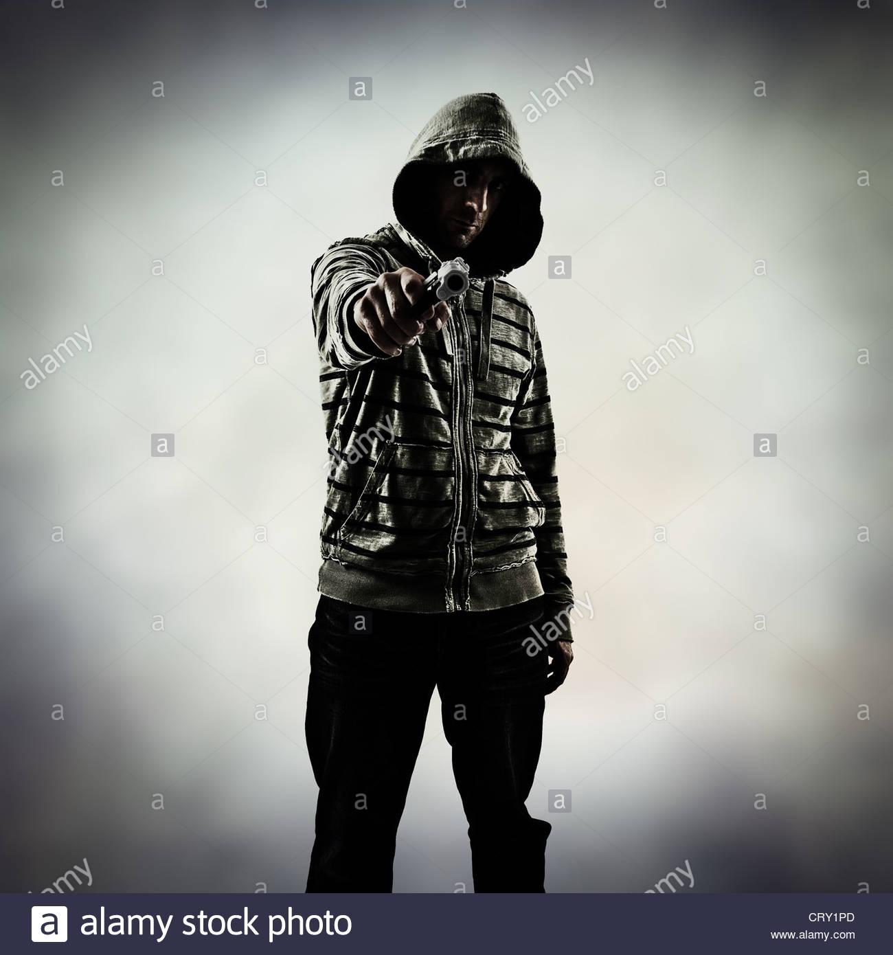 gang crime - Stock Image