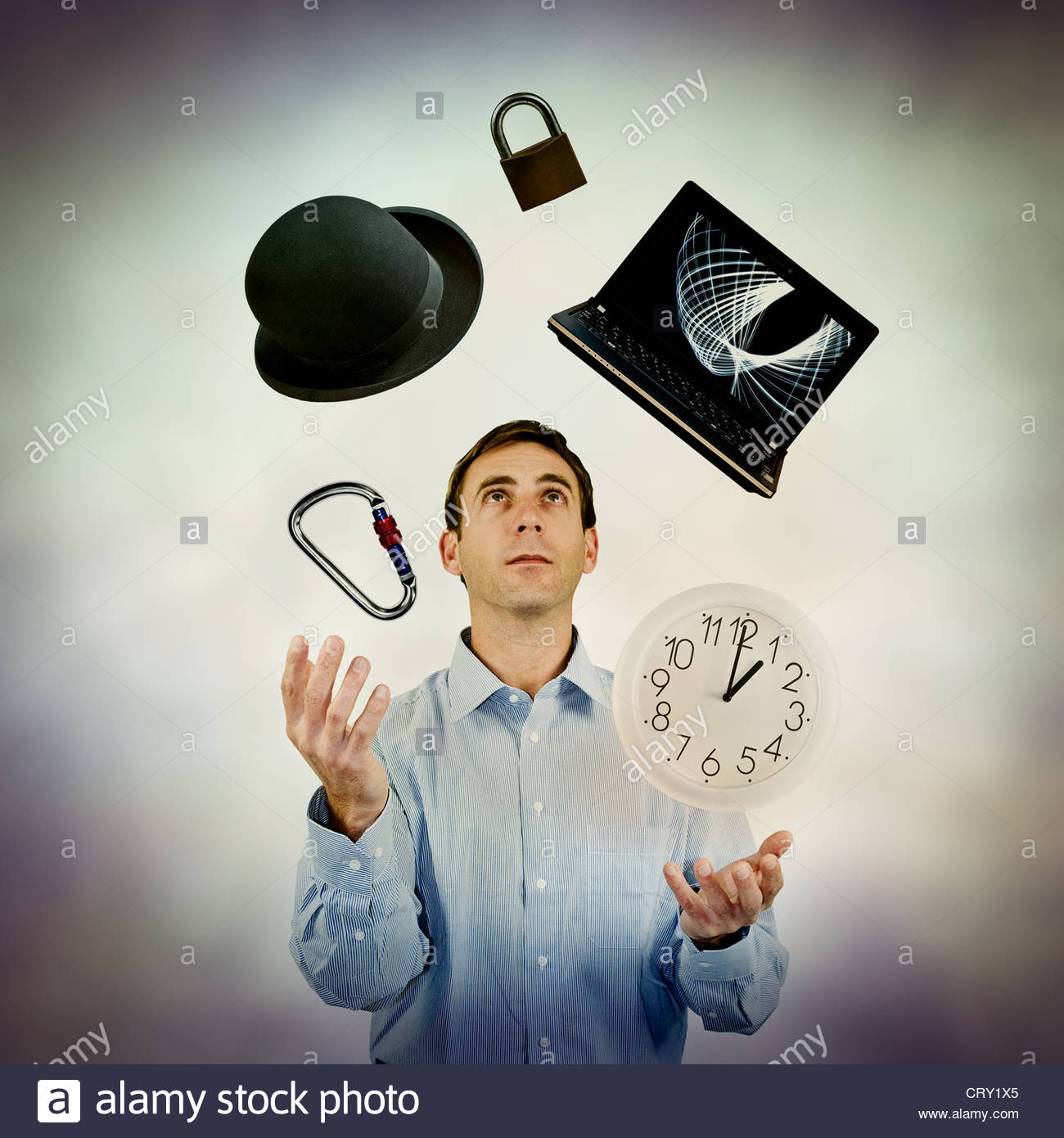 juggling work - Stock Image