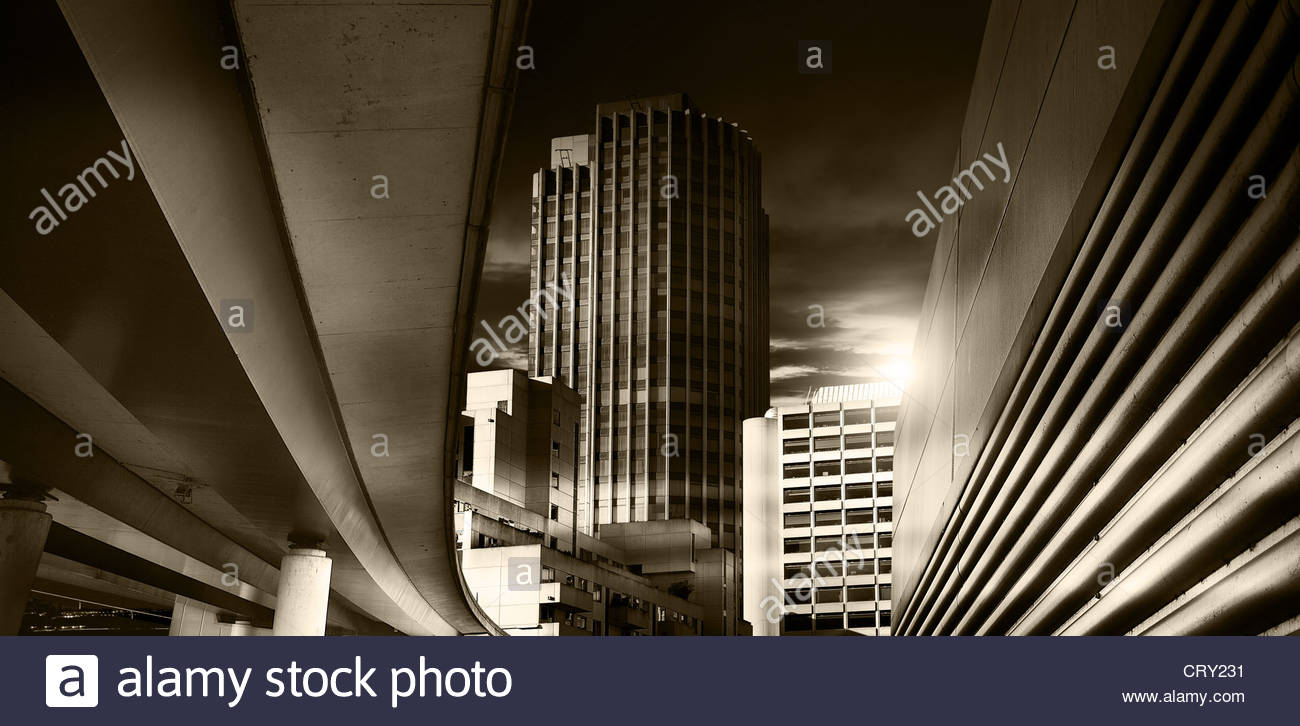 city at night - Stock Image