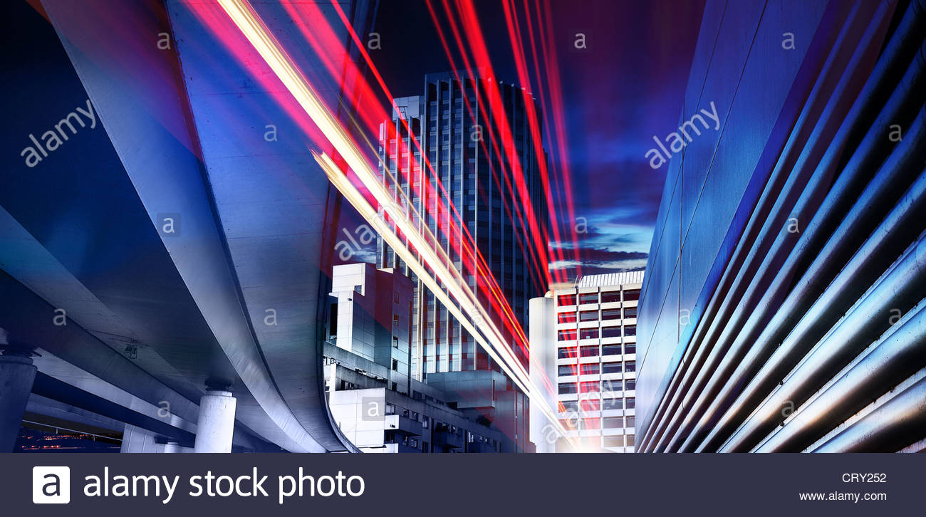 city speed - Stock Image