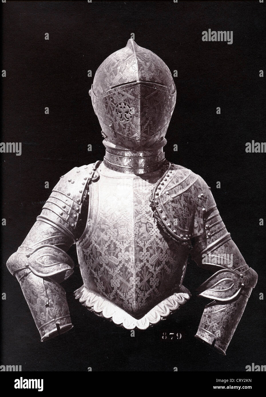 Suit of Armor, ca 1857, by Charles Clifford - Stock Image