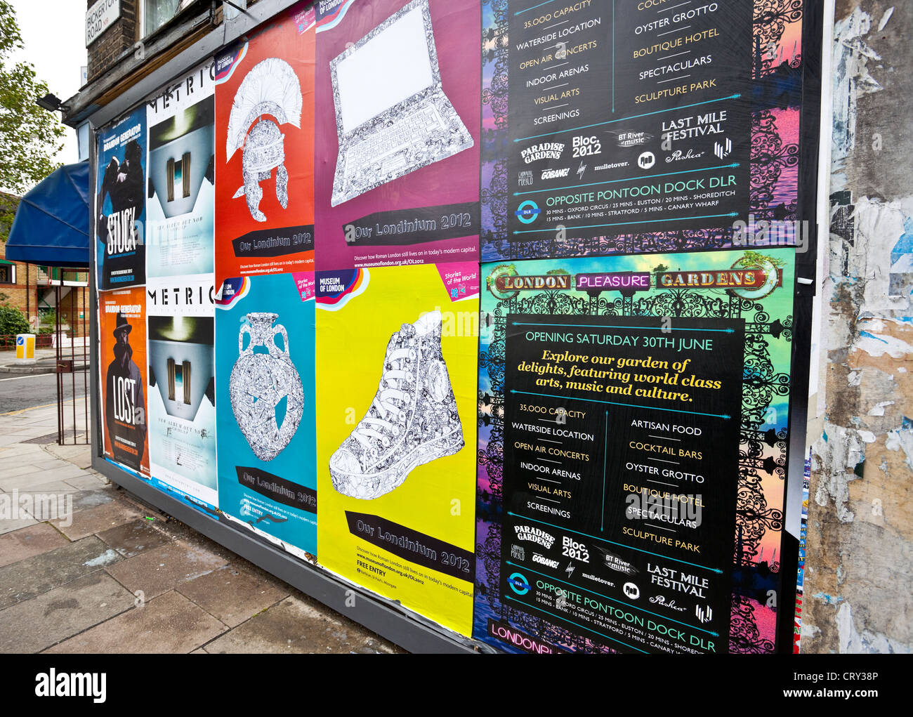 Colourful billboard, London, England, UK - Stock Image
