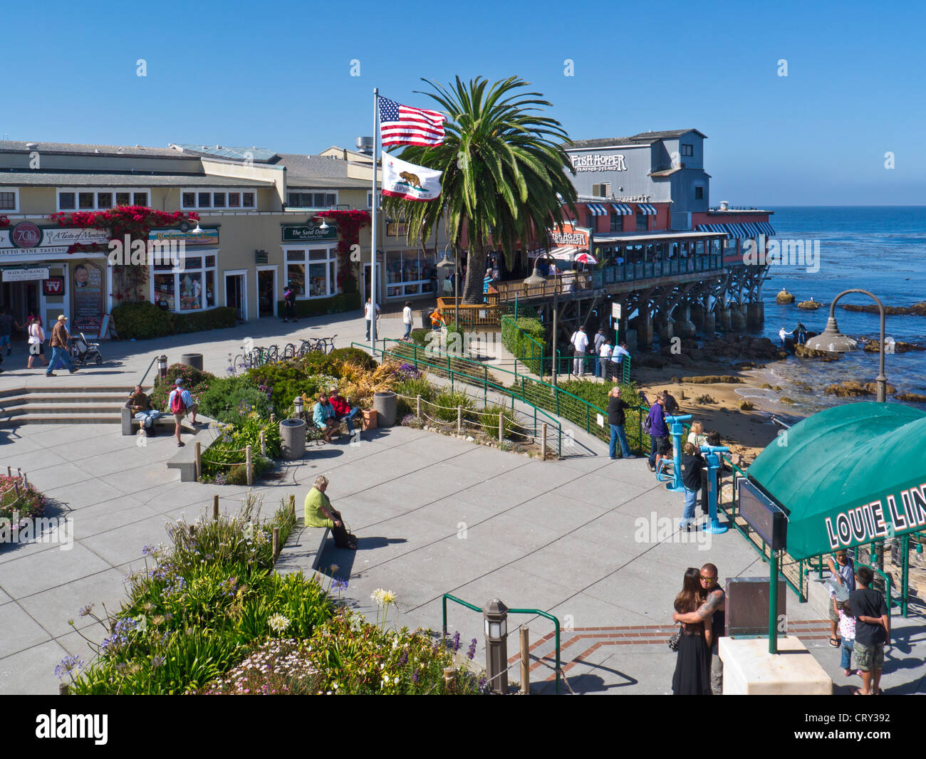Cannery Row Shops And Restaurants Complex Monterey