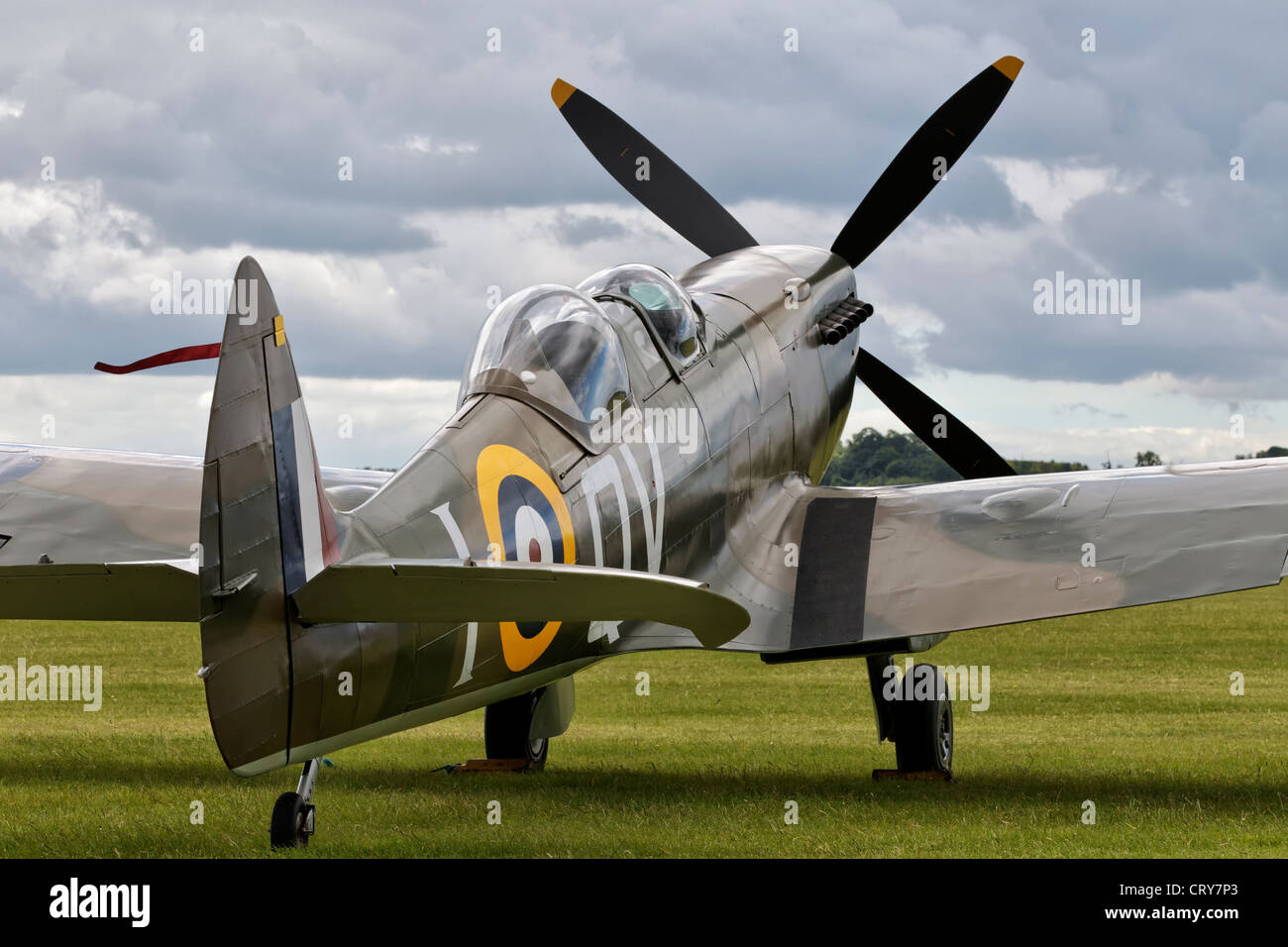 Vickers Supermarine Spitfire two seat version - Stock Image
