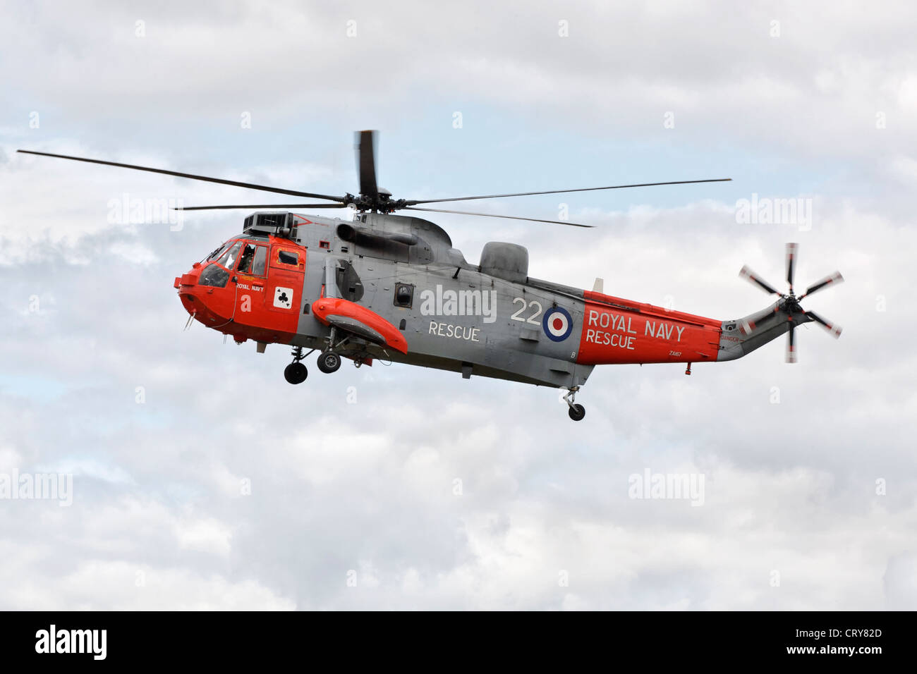 Westland Sea King helicopter of the Royal Navy rescue service - Stock Image