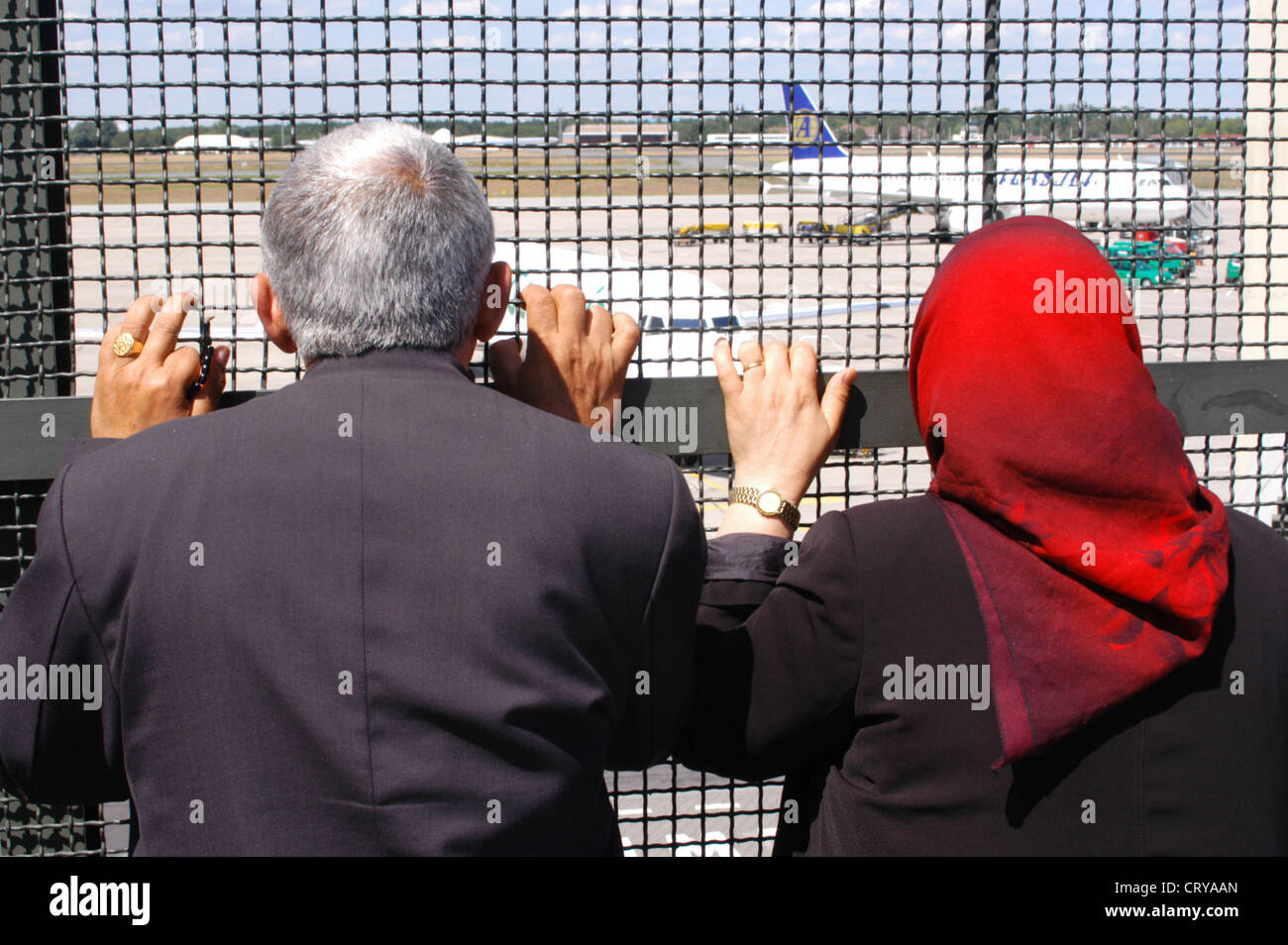 Foreigners at Berlin Tegel Airport - Stock Image