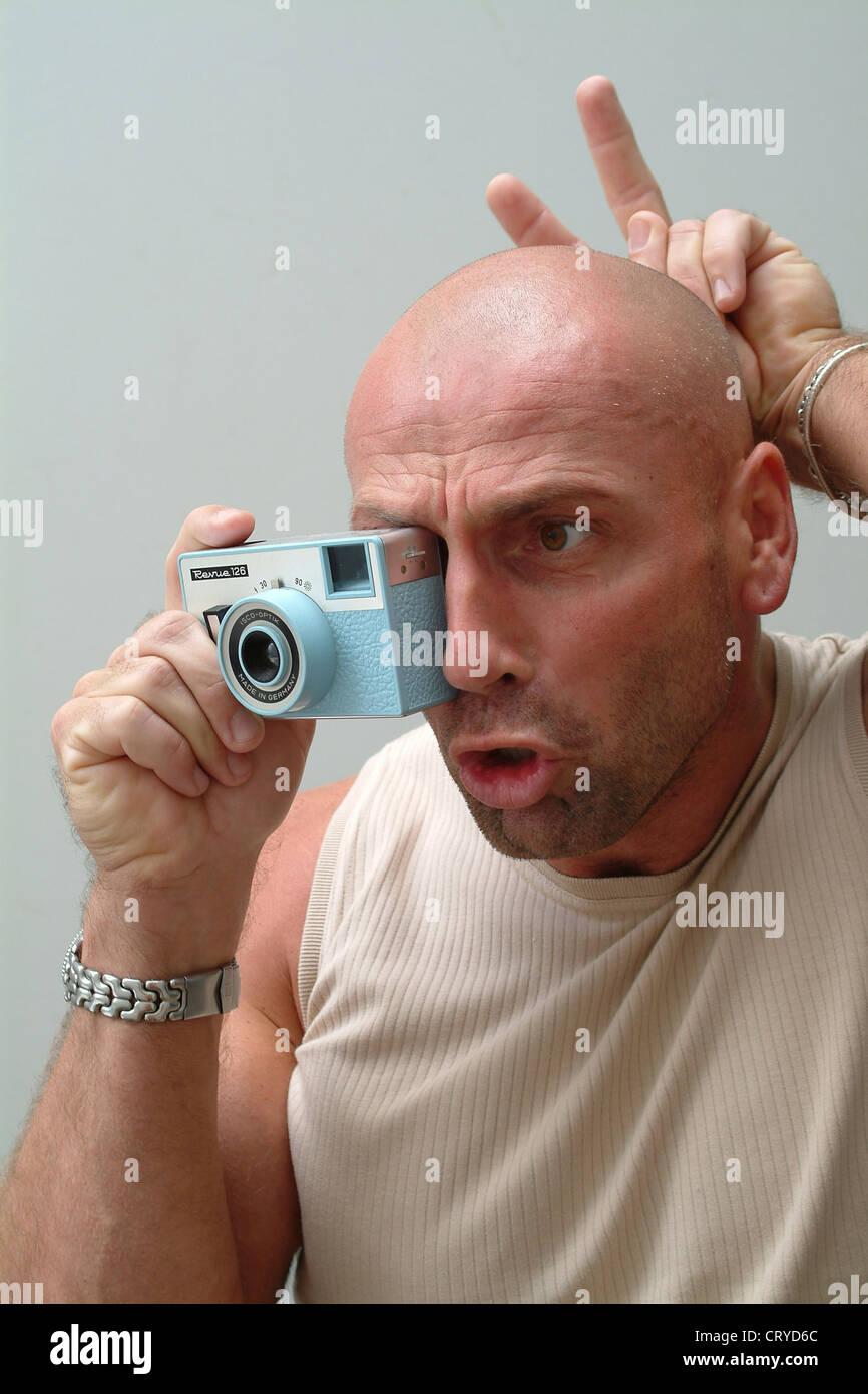 man funny Bald pic crying