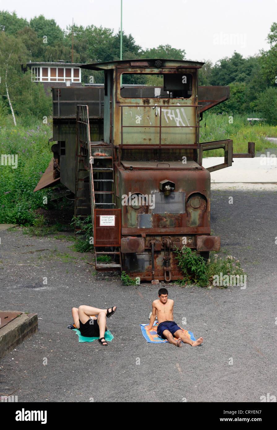 Food, teens at work pool Zollverein - Stock Image
