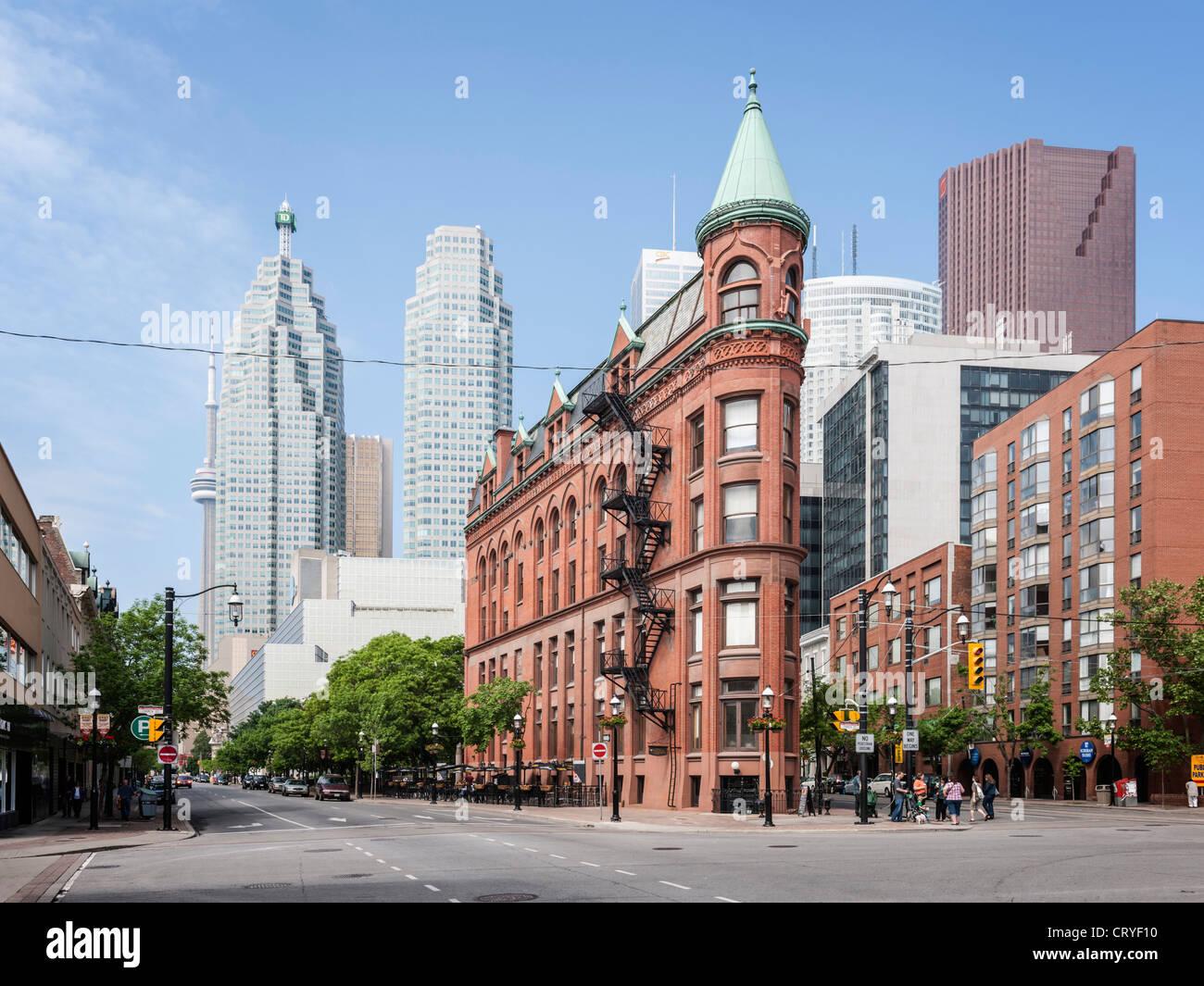 Flatiron Gooderham & Worts building, Toronto - Stock Image
