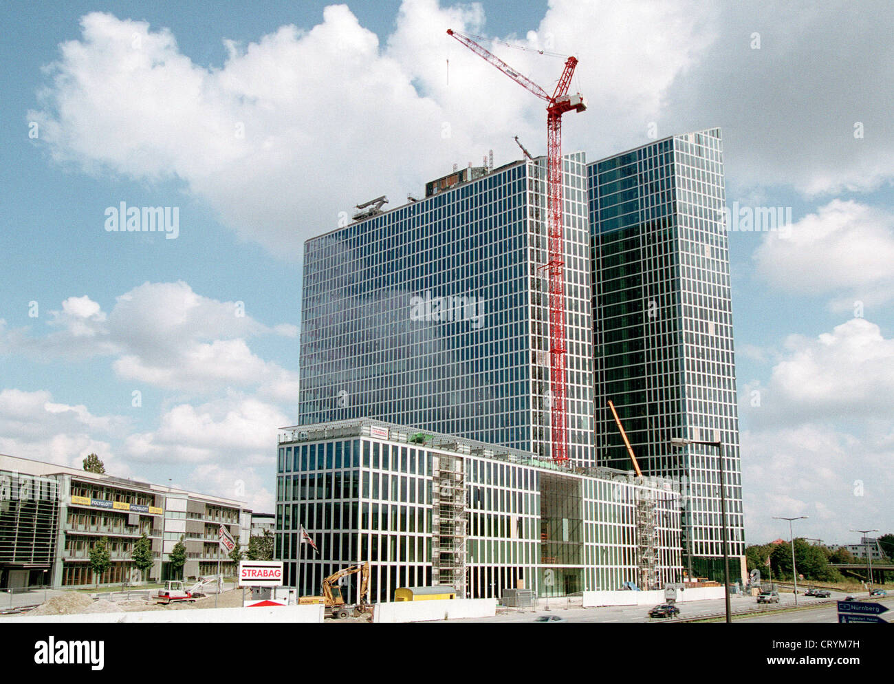 Bueroimmobilie HIghlight Towers in Munich - Stock Image