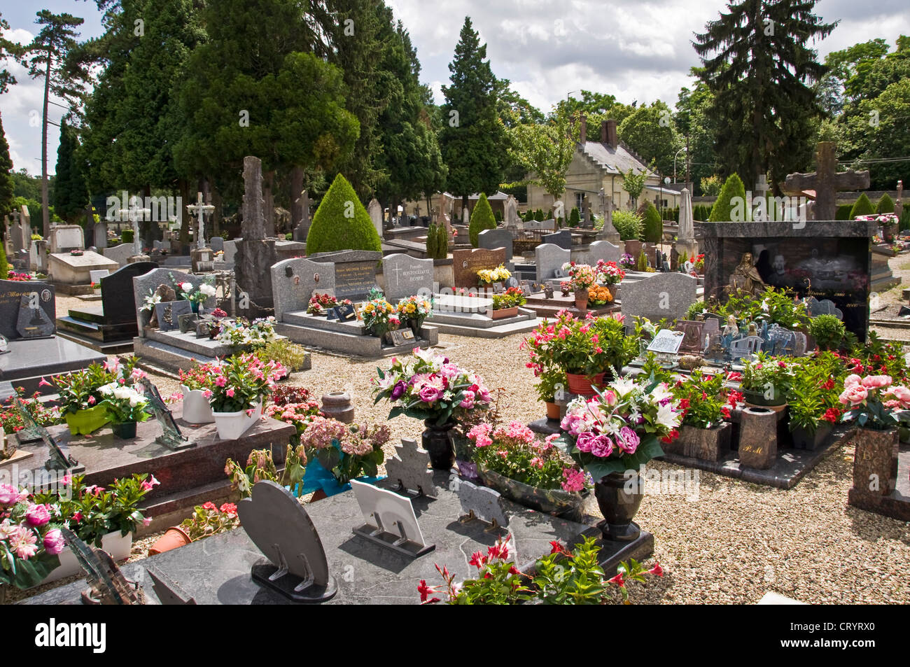 French cemetery - Compiègne (France) - Stock Image