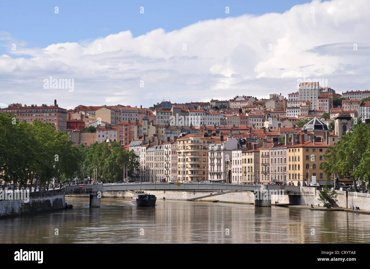 Old city quarter, Lyon, France - Stock Image