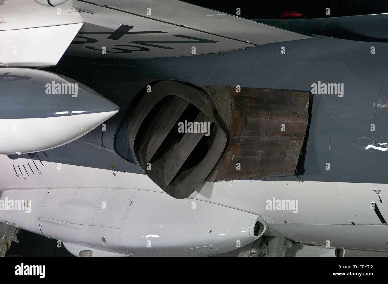 Harrier Jump Jet vector thrust - Stock Image