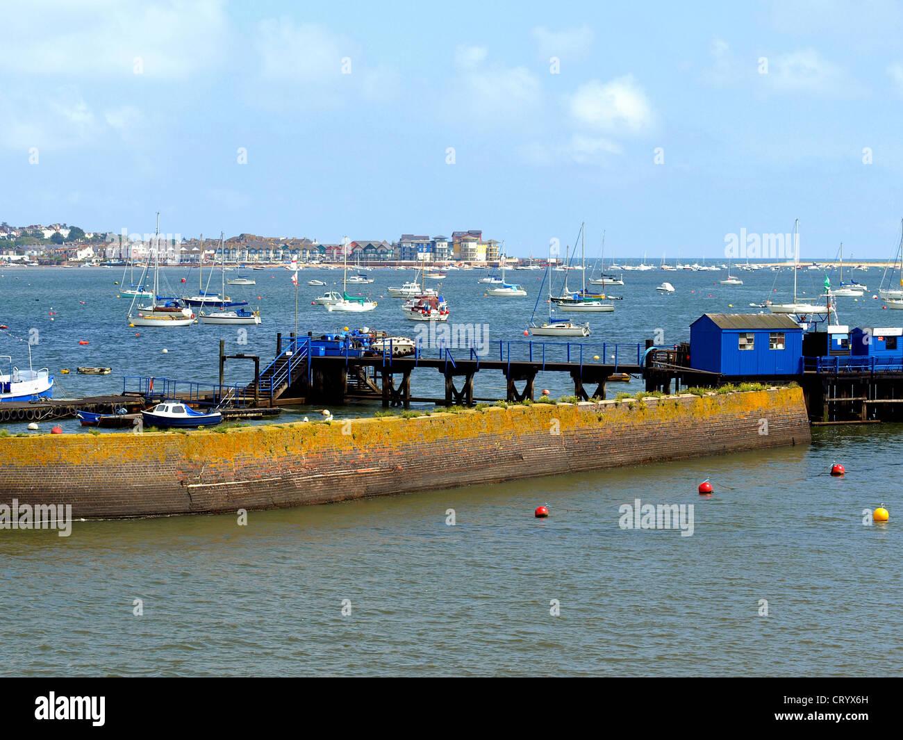 Ferry landing at Starcross, Devon. - Stock Image