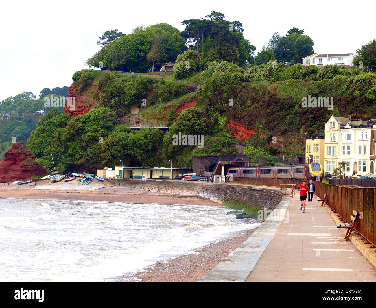 Coast at Dawlish, South Devon - Stock Image