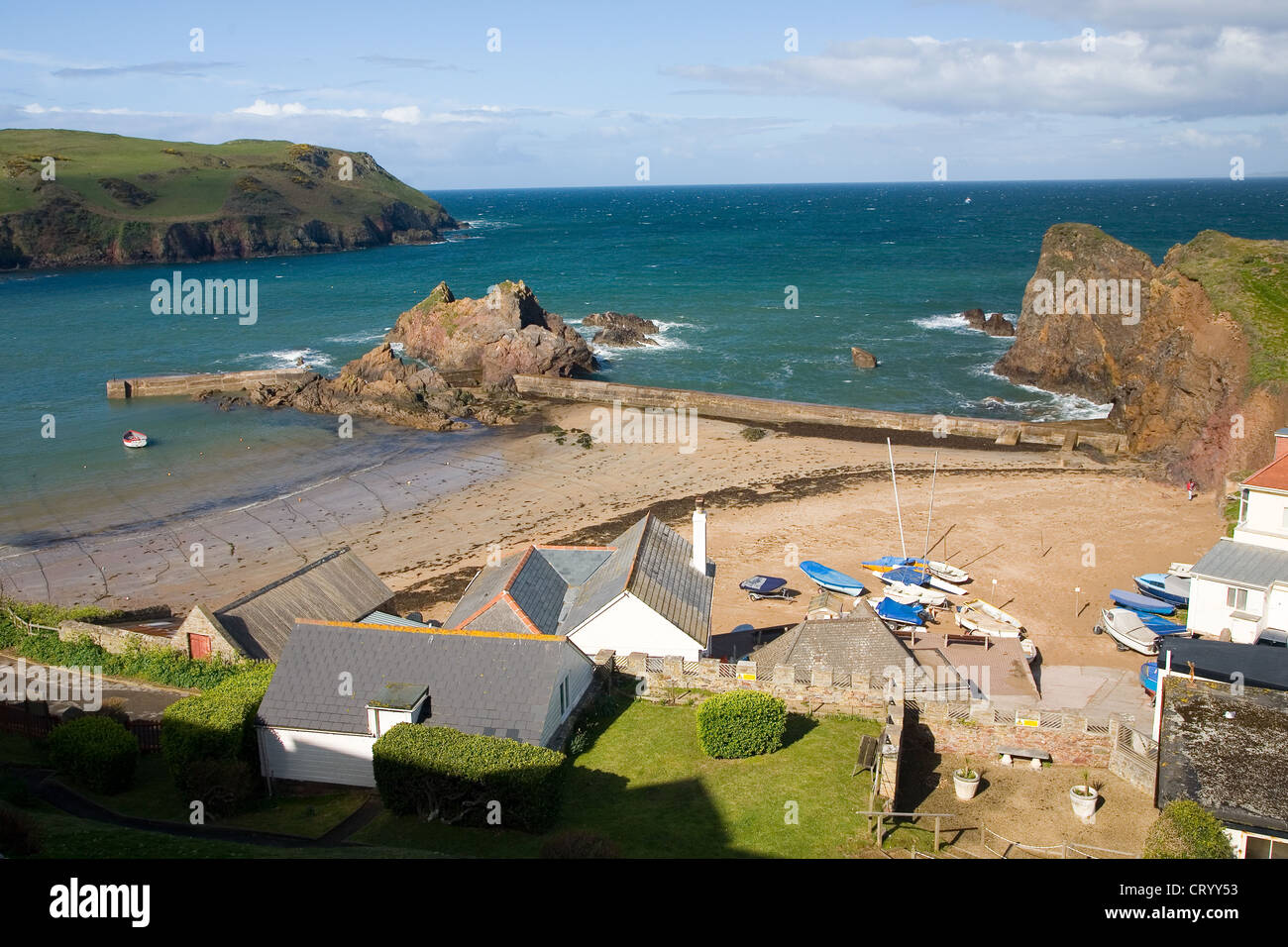 Outer Hope Cove in the South Hams, South Devon - Stock Image
