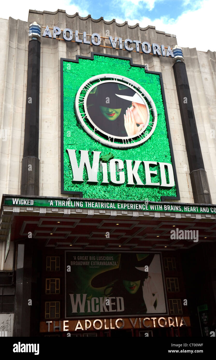 The west end Musical 'Wicked' at the Apollo Victoria theatre, London UK - Stock Image