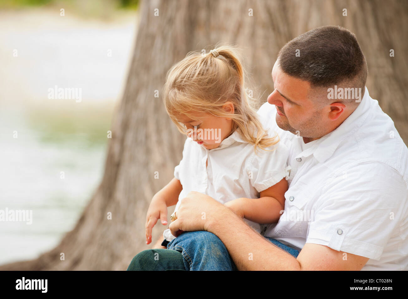 Daddy And His Little Girl Stock Photo 49174293 Alamy