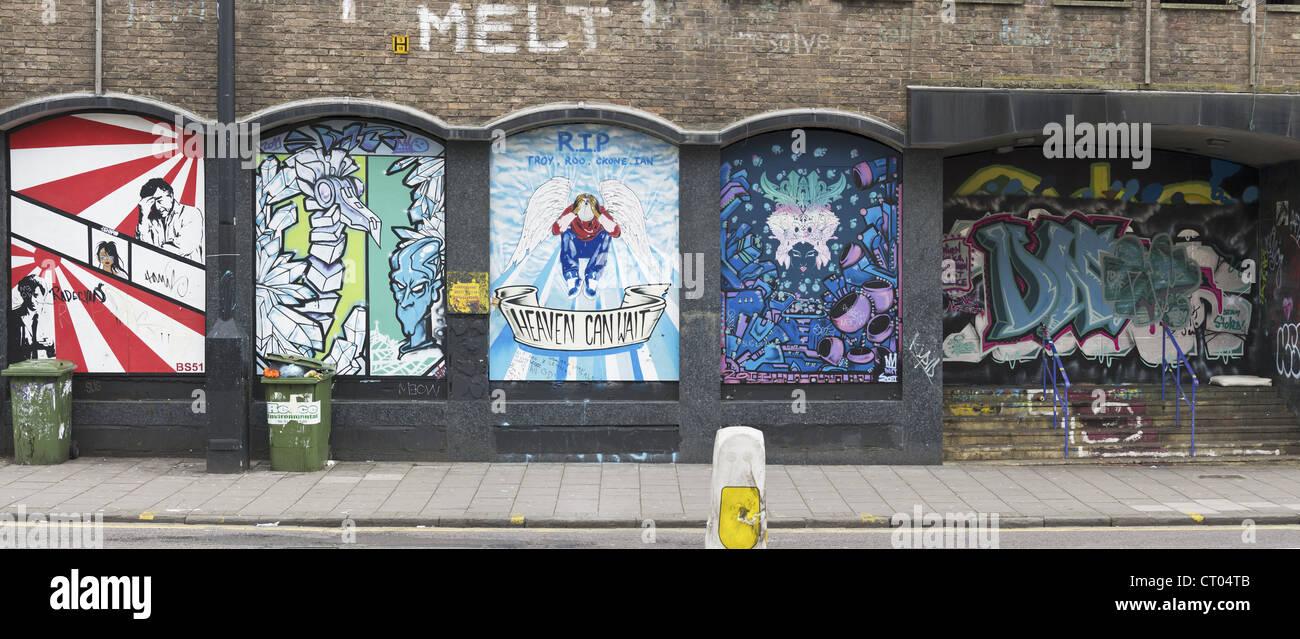 Graffitti in Stokes Croft, Bristol - Stock Image