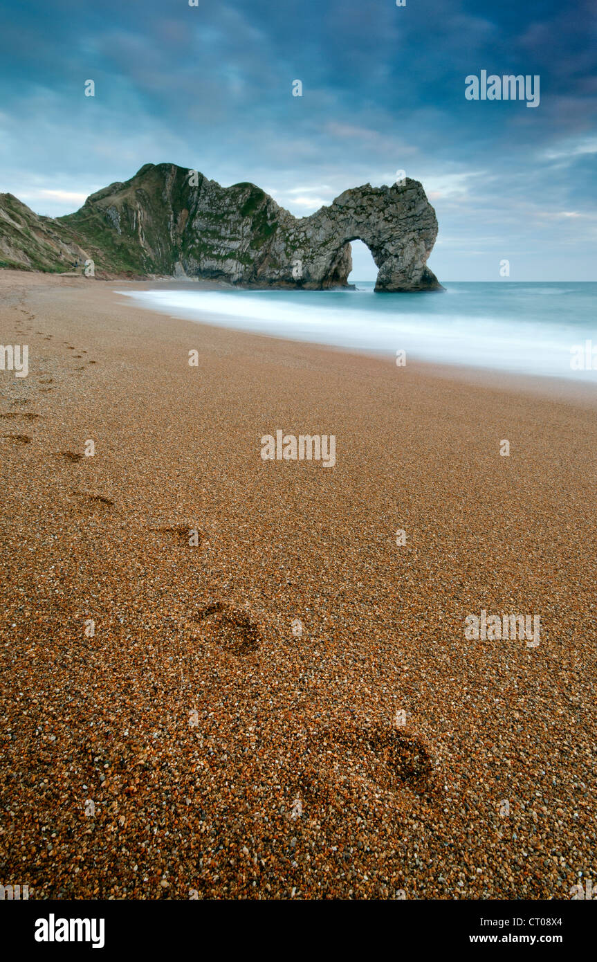 View of Durdle Door and the Jurassic Coast, Dorset. - Stock Image