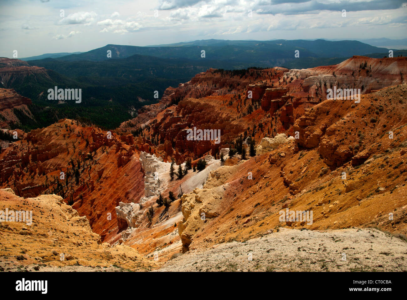 North View, Cedar Breaks National Monument - Stock Image
