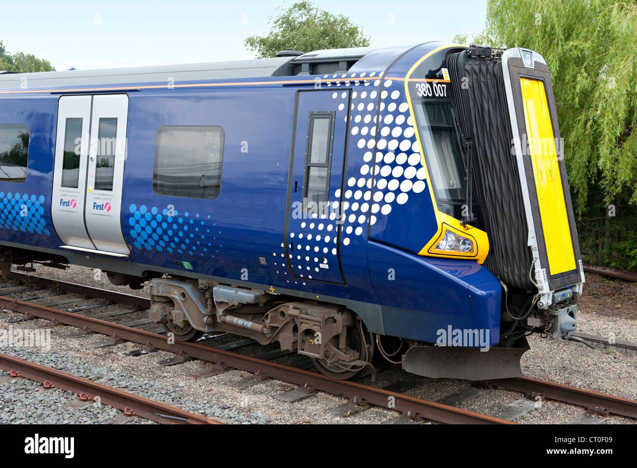 Siemens built Desiro Class 380 EMU 380007 at the York Railfest, UK Stock Photo